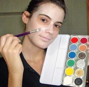 Tipos de pintura de maquillaje de cara.
